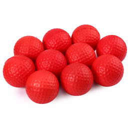 10pcs Golf ball for Golf training Soft PU Foam Practice Ball - Red