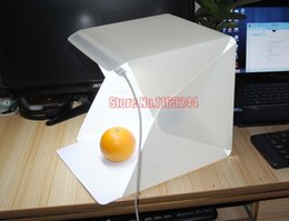$enCountryForm.capitalKeyWord Canada - Wholesale- LED photo studio Professional Portable 240*230*226 mm super Mini Kit Photo Photography Studio Light Box Softbox
