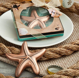 Wholesale Vintage Airplane Starfish Bottle Opener Bridal Shower Wedding Favor Hawaiian Tropical Beach Ocean Theme Party Bag Filler Favours