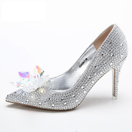 9e101dab782b Beaded Crystal 9cm High Heel Wedding Shoes 2018 Shiny Bridal Shoes New  Fashion Women Shoes Free Shipping · Find Similar
