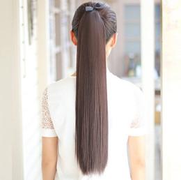 Women long straight hair ponytails pony tail hair extensions 35CM 45CM 55CM  70CM 269af9825