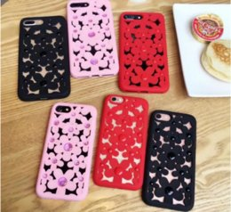 Wholesale Hollow Out Bead Flower cooling Phone Case Soft Silicone Back Cover For Iphone s plus