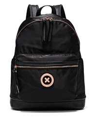 MIMCO Fashion Damen SPLENDIOSA RUCKSACK Mimco Black Rose Gold Ton Hardware Polyester Flat Top Loop Griff Tasche im Angebot