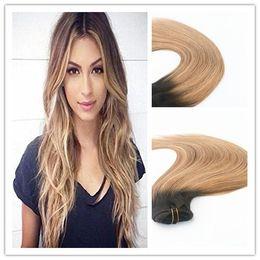 $enCountryForm.capitalKeyWord NZ - Human Hair Clip in Hair Extension Blended Color #2#6#27 Best Seling Fashion Style Brazilian Virgin Hair Straight 100g Per Bundle