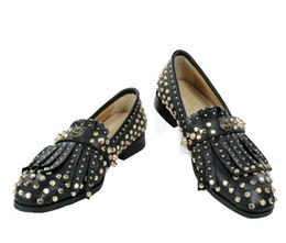$enCountryForm.capitalKeyWord NZ - england style punk rivets men flats tassel soft leather studs business dress shoes high quality oxfords slip on loafers shoes spring autumn