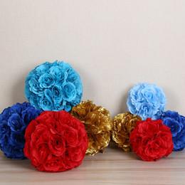 $enCountryForm.capitalKeyWord NZ - 18cm Silk Rose Kissing Balls For Wedding Silk Flower Ball Decorative Artificial Flowers Multi Colors Options Pomander Balls KB-021