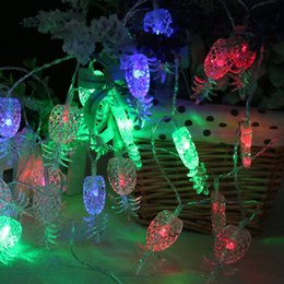 online shopping m led pineapple led string lights holiday party led tropical fruit light patio lanterns - Patio Lanterns