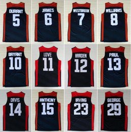 Kobe Jersey Xl Baratos-Dream Team 2012 Estados Unidos Jersey 5 Kevin Durant 6 LeBron James 11 Kevin Love 15 Carmelo Anthony 13 Chris Paul 8 Deron Williams 10 Kobe Bryant