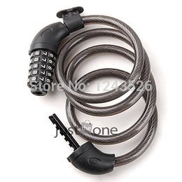 Bicycle Combination Locks Canada - 5 Digit Combination Bike Bicycle Cycling Security Code Lock w Cable 1200 x 12mm