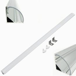 Discount clear flashlight - 2m 45 Degree V Shaped Aluminum Wall Corner Triangle LED Bar Lights Accessories Channel Holder Milk Clear Cover End Up fo