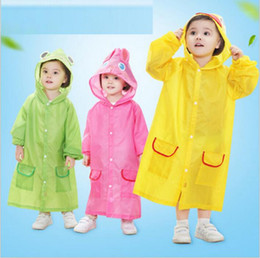 Barato Casacos Capas Para Meninas-Kids Rain Coat Animal Cartoon Raincoat Girls Impermeável Rainwear Travel Rainsuit Outdoor Rain Cape Cloak Poncho Baby Raincoats Roupa B2848