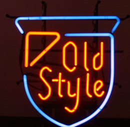 vintage fashion signs Canada - Fashion Handcraft Vintage OLD STYLE Real Glass Tubes Beer Bar Pub Display neon sign 19x15!!!Best Offer!