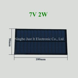 China 30pcs lot Small Size PET Solar Panel 7V 2W 180*90mm suppliers