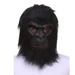 latex toys UK - X-MERRY TOY SALE! Adult Animal Chimp   Monkey   Ape Mask Fancy Dress Latex Mask Halloween Prop Free Shipping