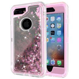 Dynamic glitter case black iphone online shopping - For iphone PLUS PLUS Glitter Running Dynamic Case Transparent Clear Robot With Belt Clip Liquid quicksand Case D