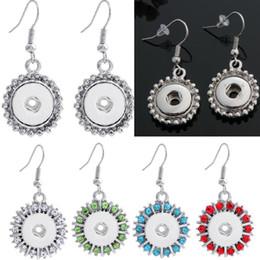 noosa snap earrings 2019 - 3 styles Fashion Women Noosa Chunks Metal Ginger 12mm Snap Button Rhinestones Hook Earrings Dangle For Girls Jewelry dis