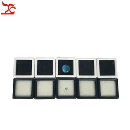 $enCountryForm.capitalKeyWord Canada - Small Cute Plastic Loose Gemstone Diamond Display Package Box Square White Black Gem Case Memory Foam Pad Beads Pendant Box Showcase 3*3*2cm