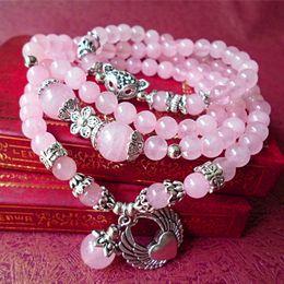 $enCountryForm.capitalKeyWord Canada - New European and American natural crystal crystal angel love wings lovely fox multi - layer peach bracelet female jewelry