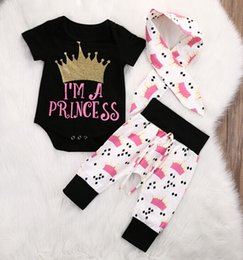 e274c6a5b8dc0d Crown baby Clothes online shopping - 2017New European and American foreign  trade children s crown printing