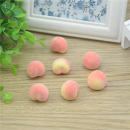 fruit table wedding 2019 - Wholesale- 30pcs Cheap Mini Peach Foam Artificial Fake Fruit Vegetable For Home Wedding Decoration Cognitive Toy Dining