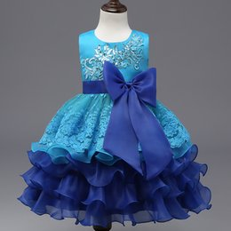 Discount spring carnival - New Elegant Princess Girl Dress 2017 Fashion Baby Spring Children Bowknot Sleeveless TuTu Embroidery Dress Kids Party Dr
