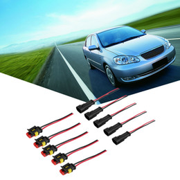 Pin Plugs Waterproof Canada - arrival 5 Kit 2 Pin Way Car Waterproof Electrical Connector Plug with Wire AWG Marine