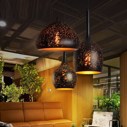 pendant lights restaurants NZ - Model Iron pendant lamps vintage coffee shop barclothing shop pendant lights single bar restaurant study industrial wind rusty pendant lamp