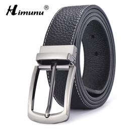 $enCountryForm.capitalKeyWord Canada - Wholesale- [HIMUNU] Brand Sided Use Cowhide Genuine Leather Belts for men Fashion Designer Belts men High quality Pin buckle Jeans cintos