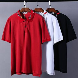 Botones De Polo Baratos-New Purpose Tour polo Shirts Hombres Snake Honeybee Turn-down Collar Streetwear Polos divertidos Print Button Pareja Nueva York