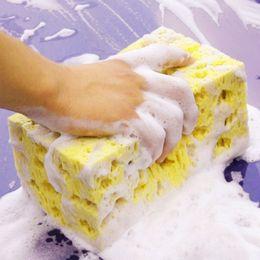 Cleaning Blocks Australia - Wholesale- 1 Pcs Car Auto Washing Cleaning Sponge Block Honeycomb Big Durable Car Coral Sponge Macroporous Cleaning Cloth Yellow