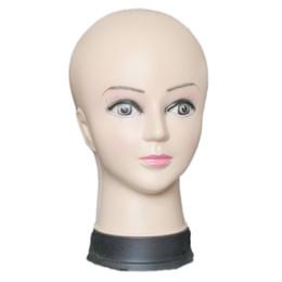 venda por atacado Cabeça de manequim das mulheres chapéu exibição peruca torso treinamento de PVC femal cabeça modelo