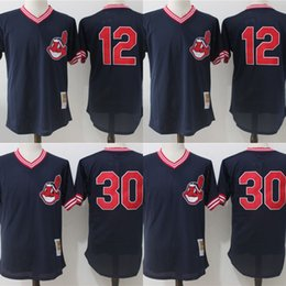 0c17bd64f22 ... Cleveland Indians Jerseys Cheap Mens 12 Francisco Lindor 30 Joe Carter  Cooperstown Collection Baseball Jersey Mix .