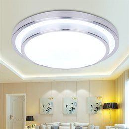Línea de aluminio doble 12W / 18W / 24W / 36W llevó la luz de techo moderna redonda llevó las lámparas del techo Dormitorio de la lámpara del dormitorio de la sala 290/350/400 / 520m m 85-265V