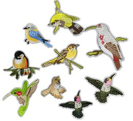 Barato Tecidos De Apliques-Lovely Bird Collar Sew Patch Applique Badge Vestido de busto bordado Handmade Craft Ornament Tecido Etiqueta ER739