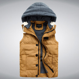 Abercrombie And Fitch Pas Cher-Vente en gros- 2017 New Mens Veste sans manches veste homme Winter Fashion Vêtements décontractés Mâle Veste en mousse Veste d'épaississement Waistcoat 3014