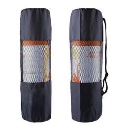 Yeni tip açık spor su geçirmez taşınabilir çok fonksiyonlu nefes örgü yoga mat paketi Yoga Çantası (siyah)