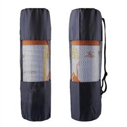 Yeni tip açık spor su geçirmez taşınabilir çok fonksiyonlu nefes örgü yoga mat paketi Yoga Çantası (siyah) indirimde