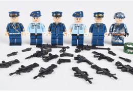 $enCountryForm.capitalKeyWord Australia - 6pcs set Military Chinese Guard Air Force Army Building Blocks Bricks Figures Model Toys Children DIY Gift Toys