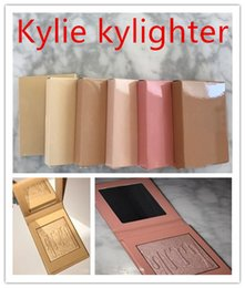 Maquillaje De Algodón Baratos-Kylie Cosmetics Kylighter French Vainilla Cotton Candy Salado Carmel Highlighter Glow Face Makeup 6 color Bronzers Highlighters