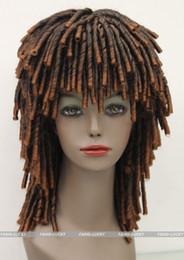 $enCountryForm.capitalKeyWord Canada - free shipping beautiful fashion New Black Brown Mixed Africans style wig DREADLOCKS Fancy Dress RUUD GULLIT FTLG010