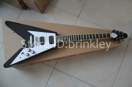 new flying v guitars Canada - Brinkley New arrival Flying-V 2017 electric guitar,black flying V guitar,All color are available