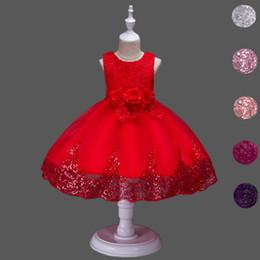 $enCountryForm.capitalKeyWord Australia - Princess Flower Girl Dress Wedding Party Prom Teens Bridesmaid Kids Clothes Sleeveless Lace Tutu Dress