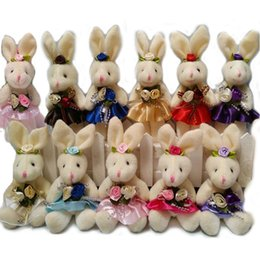 Video games for small kids online shopping - NEW CM pp cotton kid toys plush doll mini small rabbit flower bouquets rabbit for wedding Easter gift stuffed bunny