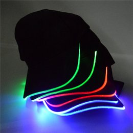 7cdddd5e9ca00 LED Light Up Glow Baseball Hat unisex Led Luminous Party Baseball Hats led  ball caps glow up hats for club party sports