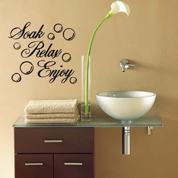 For Soak Relax Enjoy Bathroom Funny Wall Art Quote Sticker Vinyl Decal Home  Art Decoration Diy DIY
