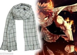 Barato Traje Da Cauda De Fadas Do Anime-Venda por atacado - HOT 2016 Anime Fairy Tail Natsu Dragneel Scarf Cosplay Costume Cute Gift