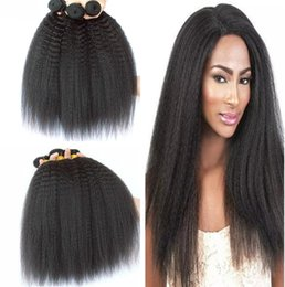 mongolian afro kinky straight hair weave 2019 - 8A unprocessed Malaysian kinky straight human hair wholesale mongolian hair weave cheap afro kinky curly hair from Huiha
