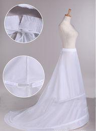 $enCountryForm.capitalKeyWord Australia - 2017 New Arrival Bride Petticoats with Train White 2 Hoops Long Formal Dress Underskirt Crinoline Stock Wedding Accessories