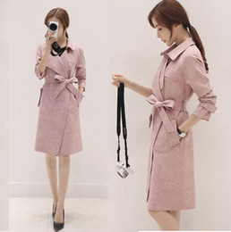 Discount Pink Trench Coats | 2017 Hot Pink Trench Coats on Sale at ...