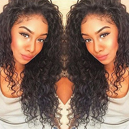 $enCountryForm.capitalKeyWord Canada - 360 Lace Frontal Wigs Pre Plucked Lace Front Wig With Baby Hair Brazilian Deep Curly Full Lace Human Hair Wigs Pre plucked Hairline